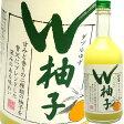 越乃柏露 W柚子(ダブルゆず) 500ml 柏露酒造 ゆず酒
