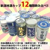 新潟・日本酒カップ酒12本飲み比べセット180ml×12本