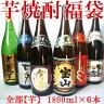 芋焼酎福袋1.8L×6本(大魔王、七夕、倉岳、薩摩宝山黒、鬼火、紫尾の露)全部芋焼酎の大容量セット