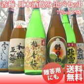 【香梅】新潟日本酒飲み比べ720ml×6本厳選きき酒セット