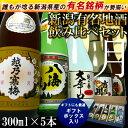 【月】新潟有名日本酒飲み比べセット(越乃寒梅、八海山入り)300ml×5本贈答用化粧箱入り 日…