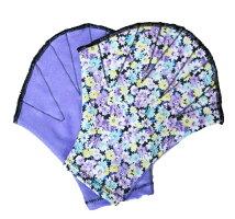 オリジナルアクアグローブ【Mサイズ】薄紫の小花無地部分ヒヤシンス