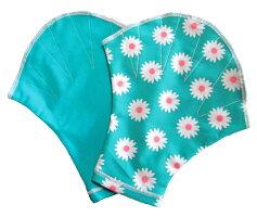 デイジーミント〔Mサイズ〕無地部分ミントMサイズ〔アクアミット水泳練習用水中ウォーキングエクササイズ水泳用手袋柄ソフトミット男性用女性用可愛い柄花柄〕