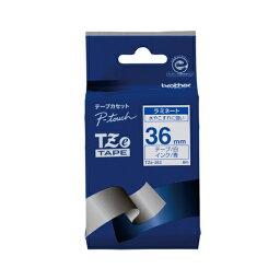 ブラザー工業 TZeテープ ラミネートテープ(白地/青字) 36mm TZe-263