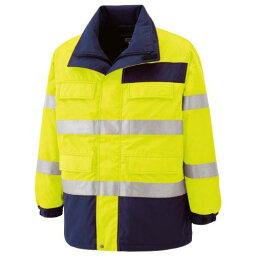 SE1124UEMミドリ安全 高視認性 防水帯電防止防寒コート イエロー M7978677