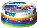 三菱電機 Verbatim製 データ用DVD-R DL 片面2層 8.5GB 2-8倍速 ワイド印刷エリア スピンドルケース入り 25枚 (DHR85HP25V1)