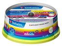 三菱電機 Verbatim製 データ用DVD+R DL 片面2層 8.5GB 2.4-8倍速 ワイド印刷エリア スピンドルケース入り 25枚 (DTR85HP25V1)