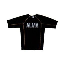 マーシャルワールドジャパン ALR5-XL-YL BONE(ALMAラッシュガード) XL 黒×黄【新ロゴでの手配となります】