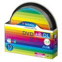 三菱ケミカルメディア Verbatim製 データ用DVD+R DL 片面2層 8.5GB 2.4-8倍速 ワイド印刷エリア スピンドルケース入り 10枚 (DTR85HP10SV1)