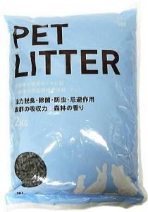 ピーツーアンドアソシエイツ 猫・うさぎ・フェレットの快適トイレ砂 ペットリター 2kg【smtb-s】