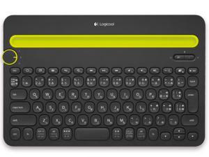ロジクール マルチデバイス対応Bluetoothキーボード (ブラック) K480BK(K480BK)【smtb-s】