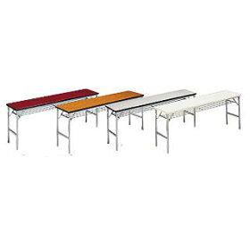 折りたたみ会議テーブルクランク式ワイド脚[ソフトエッジ]W206−GB[ミーティングテーブル]【smtb-TK】