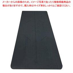 ヨガマット 20mm 高品質TPE 厚手 115通りのポーズに対応 デザイン線プリント 1830x610 ブラックアウト色 【ECJ】