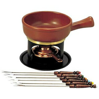 【まとめ買い10個セット品】 【業務用】ミニ チーズフォンデュセット T-100 陶器鍋付