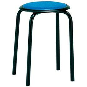 【業務用】丸椅子M-24T(10脚入)ブルー【メーカー直送/決済】