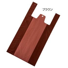 無地レジ袋ブラウン18×35(23)×横マチ116000枚【店舗備品包装紙ラッピング袋ディスプレー店舗】【ECJ】