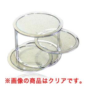 グラスタワーテーブルブラック[強化ガラス使用ラウンドテーブル]