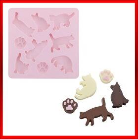 業務用シリコン シリコーン チョコレートモールド SIG−63 ネコ