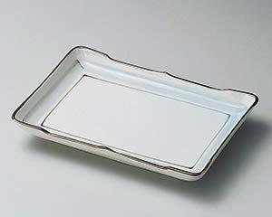 【まとめ買い10個セット品】和食器 ヨ141-066 淡彩ライン8.0長角皿 【キャンセル/返品不可】【ECJ】