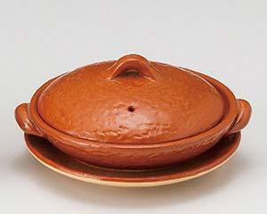 【まとめ買い10個セット品】和食器 メ395-036 5号赤楽柳川鍋(受皿付) 【キャンセル/返品不可】【ECJ】:EC・ジャングル