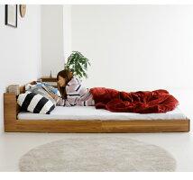 ベッドダブル圧縮マットレス付きダブルベッドベッドフレームコンセント付きポケットコイル宮付き木製フロアベッドローベッドベット北欧モダンホワイトダークブラウンライトブラウン白安い人気コンパクト新生活送料無料楽天通販