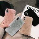 【期間限定保護フィルムプレゼント】iphone11 ケース 韓国 シンプル モコモコ ファー ケース ……