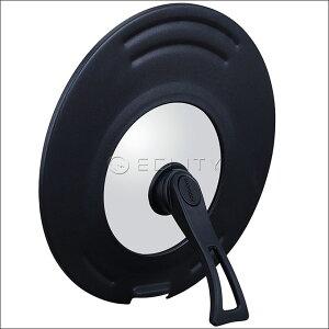 エバークック evercook 回転ハンドル立つ兼用カバー EFPSCT-22bk 22〜26cm用 22cm 24cm 26cm フライパン用 鍋用 蓋 フタ ふた ガラス スタンド 縦置き ガラス蓋 取手 持ち手 ハンドル 母の日