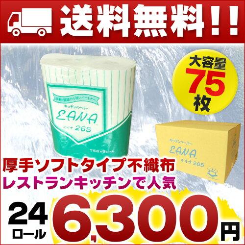 イイナ キッチンペーパー EANA 24ロール(2ロール×6パック×2箱セット)【東京クイン...
