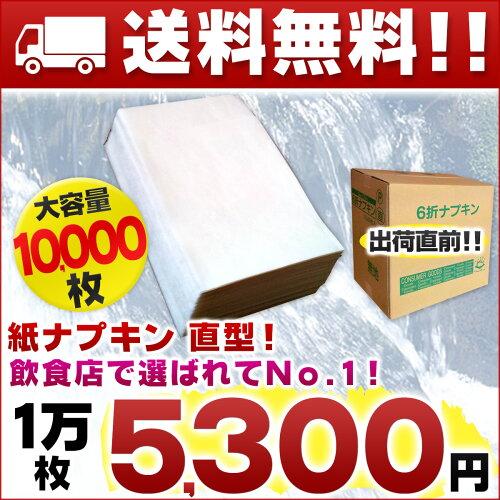 業務用 紙ナプキン 直線タイプ 6折ナプキン 1万枚(100枚 × 100パック)【東京クイン...