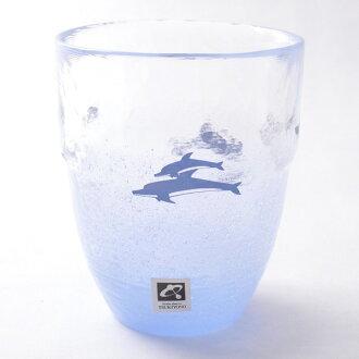 月夜野工房燒酒玻璃杯海豚[啤酒玻璃杯玻璃啤酒玻璃杯父親節禮物父親節禮物父親節啤酒玻璃杯父親節啤酒玻璃杯啤酒玻璃杯麥茶玻璃杯玻璃杯子][02P03Dec16]