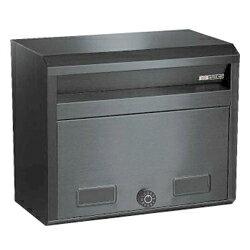 ハッピーステンレスポストファミールシリーズ682-SBKスーパーブラックダイヤル錠付き