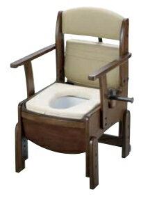 リッチェル 木製トイレ きらく コンパクト やわらか便座