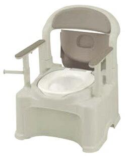 リッチェル ポータブルトイレ きらく PS2型 普通便座 グレー