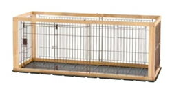 リッチェル 木製スライドペットサークル レギュラー ナチュラル