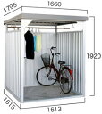 ダイマツ多目的万能物置 DM-7壁面パネルロング型 [収納/屋外収納/ガレージ/屋外/雨よけ/倉庫/価格/小屋/庭/スペース/自転車/設置/物置き]