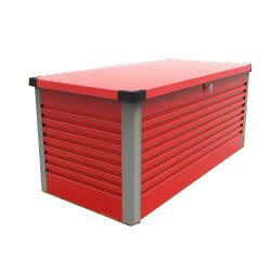 ガーデナップ 大容量屋外収納庫 パティオボックス TM7 ラージ ポピーレッド×グレー(RG) ※お客様組立品※受注生産品