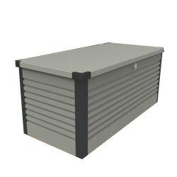 ガーデナップ 大容量屋外収納庫 パティオボックス TM7 スモール グレー×アントラシット(GA) ※お客様組立品※受注生産品