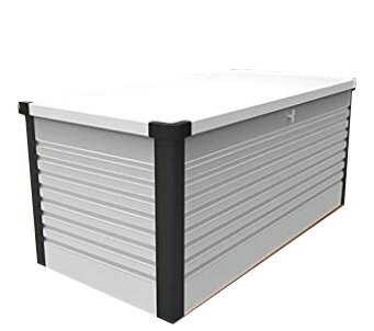 ガーデナップ 大容量屋外収納庫 パティオボックス TM7 スモール ホワイト×アントラシット(WA) ※お客様組立品※受注生産品