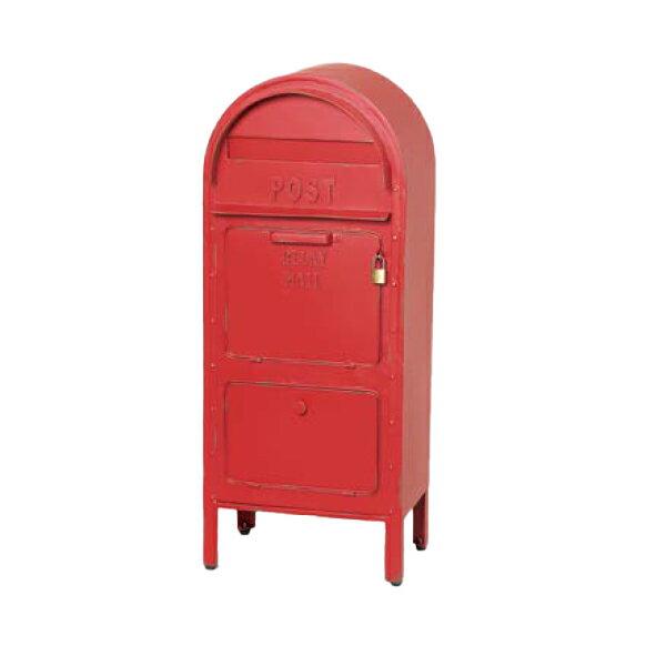 セトクラフト 大型郵便物対応!セトクラフト ワイドな投函口・収納スペース付き アメリカンポスト(レッド) SI-2857-RD
