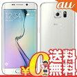 中古 Galaxy S6 edge SCV31 64GB White Pearl au スマホ 白ロム 本体 送料無料【当社1ヶ月間保証】【中古】 【 携帯少年 】