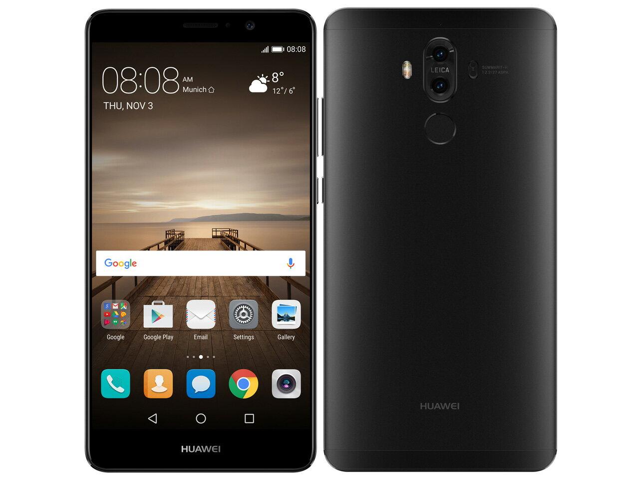中古 Huawei Mate 9 MHA-L29 Black【国内版】 SIMフリー スマホ 本体【当社1ヶ月間保証】【中古】 【 中古スマホとsimフリー端末販売の携帯少年 】:中古スマホとsimフリーの携帯少年