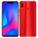 Huawei nova3 PAR-LX9 Red【国内版SI