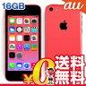 白ロム au 未使用 iPhone5c Pink 16GB (ME545J/A) 【当社6ヶ月保証】 スマホ 中古 本体 送料無料【中古】 【 携帯少年 】