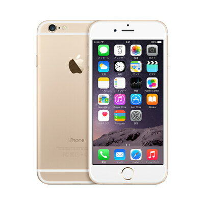 au iPhone6 64GB A1586 (MG4J2J/A) ゴールド 中古 スマホ 白ロム 本体中古 iPhone6 64GB A1586 (...