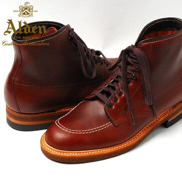 【送料無料】Alden Men's Indy Boot High Top Blucher Workboot Style#:403★オールデン ブラウン ショート★本革 シューズ★