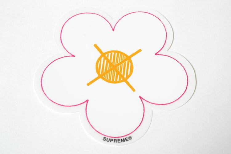 バッグ・小物・ブランド雑貨, その他 Supreme Flower sticker