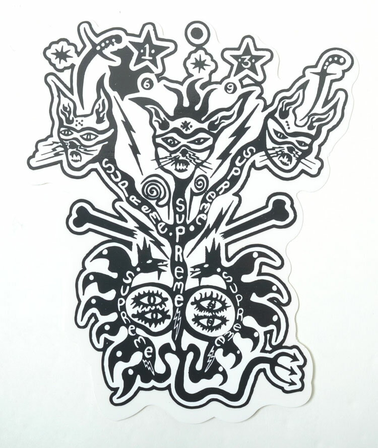 バッグ・小物・ブランド雑貨, その他 Supreme Clayton Patterson Sticker