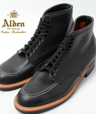 【送料無料】Alden Men's Indy Boot High Top Blucher Workboot Style#:401★オールデン インディーブーツ ブラック ★本革 シューズ★