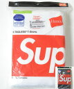 SUPREME/Hanes Tagless Tees(3Pack) シュプリームxへインズ Tシャツ 3枚入り 全2色