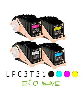 【リサイクル品】EPSON エプソン LPC3T31BK C M Y 4色 (ブラック/シアン/マゼンダ/イエロー) Mサイズ (LPC3T31K) (lpc3t31bk) (lpc3T31k)リサイクルトナーカートリッジ【国内・国産】
